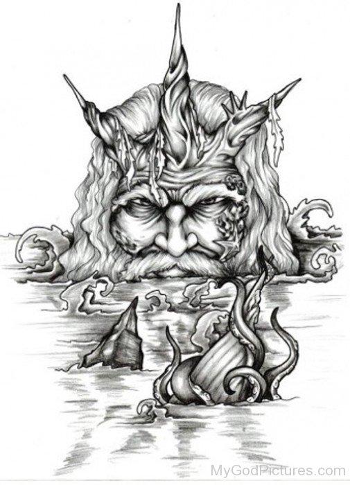 Poseidon Drawing Image