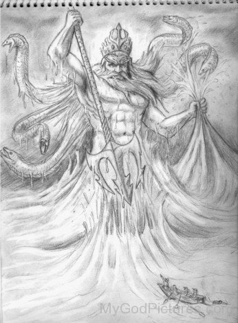 Poseidon Drawing picture