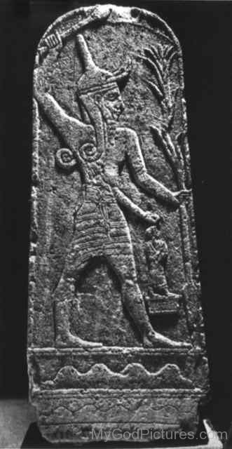 Sculpture Of God Baal-ghy215