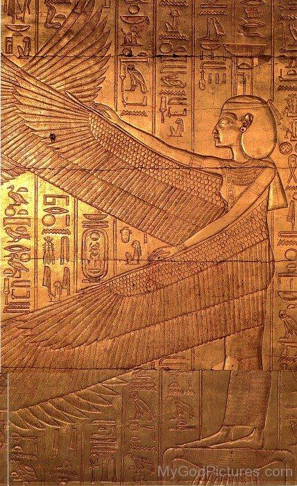 Sculpture Of Goddess Isis-jk824