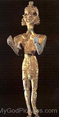 Steel Figurine Of A Baal-ghy216