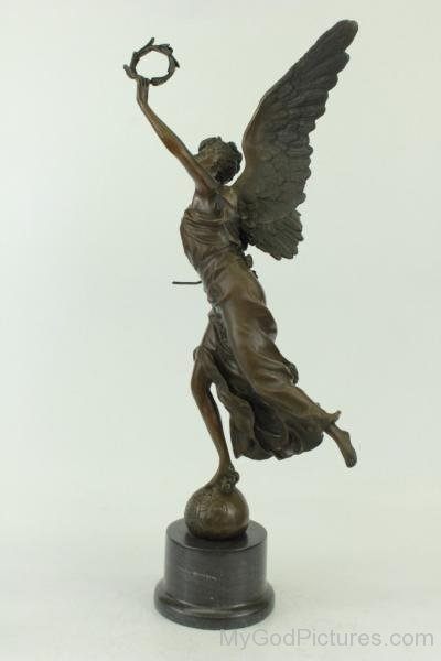 Victoria Winged Angel Bronze Sculpture Statue