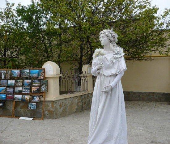 White Statue Of Flora