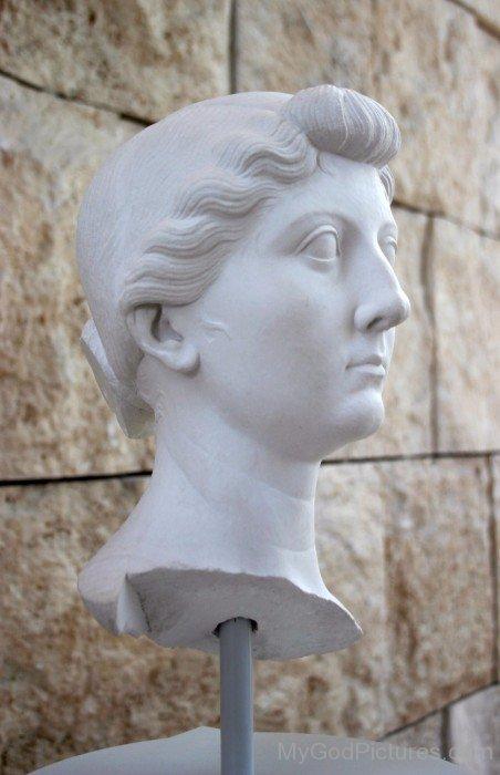 White Statue Of Goddess Livia