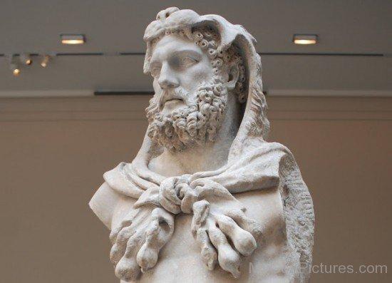 White Statue Of Hercules