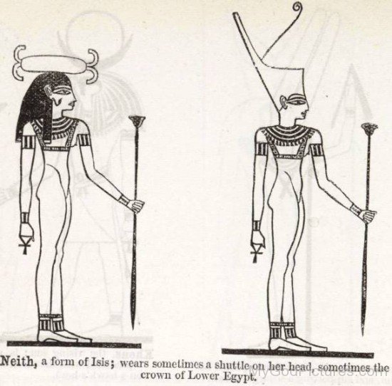 Neith Wearing A Shuttle On Her Hand