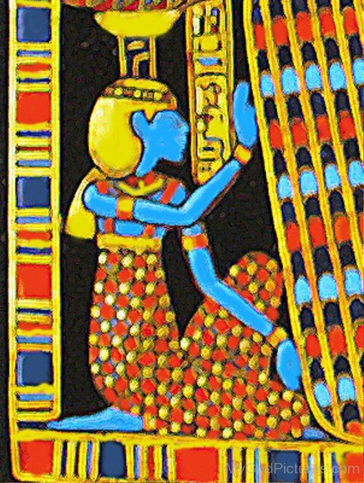 Painting Of Goddess Nephthys-li816