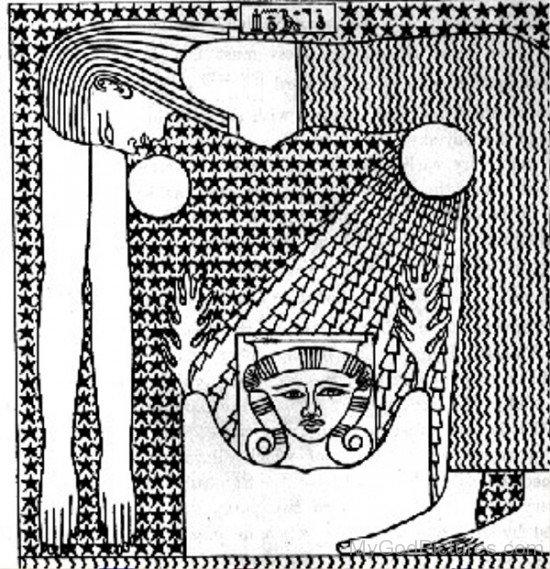 Portrait Of Goddess Nut-yt524