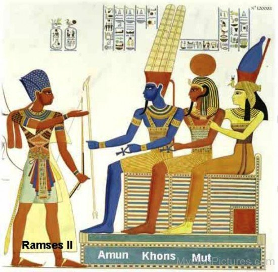 Ramses,Amun,Khonsu And Mut-fg418