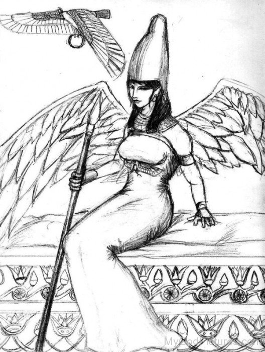 Sketch Of Goddess Nekhbet