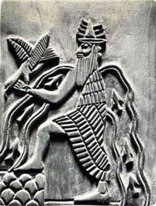 Apkallu Sculpture On Wall-fr306