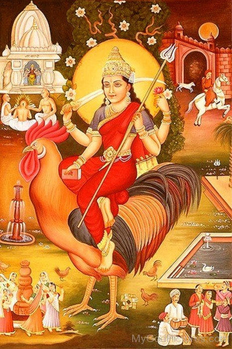 Bahuchara Goddess Picture-xc103