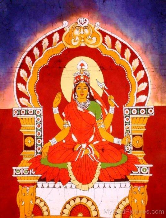 Bhuvaneshvari Goddess Image-re801