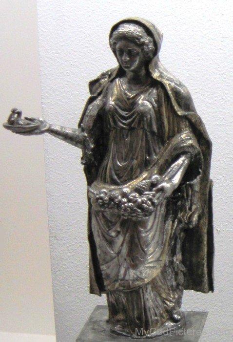 Black Statue Of Abundantia-re304