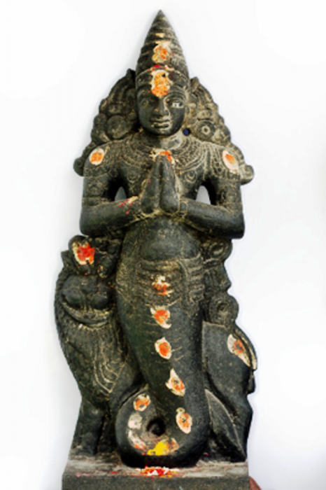 Black Stone Statue Of Ketu-th71