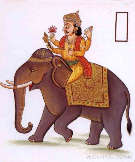 Brhaspati Mount On Elephant