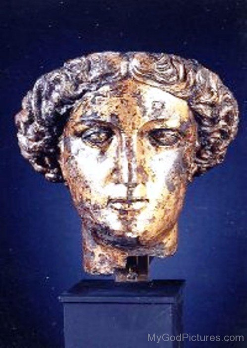 Bronze Statue Face Of Sulis-rf201