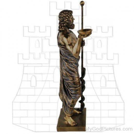 Bronze Statue Of Asclepius-tb605