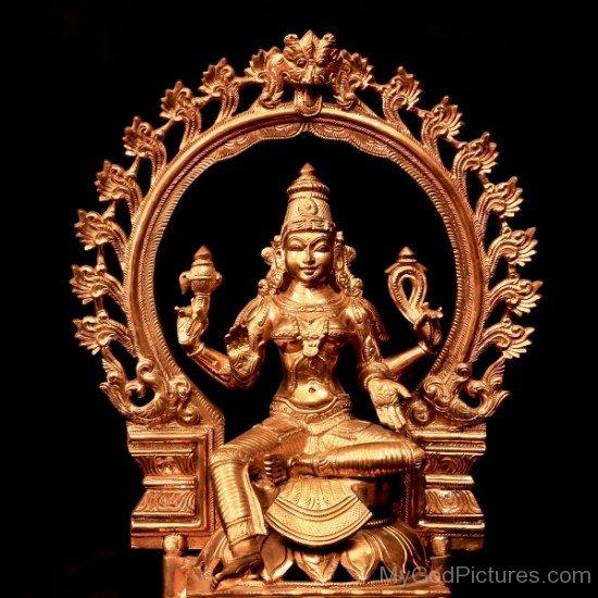 Bronze Statue Of Bhuvaneshvari-re804