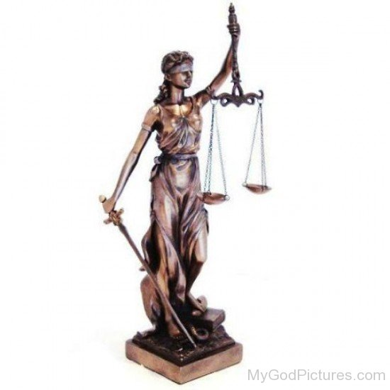 Bronze Statue Of Justitia-hl701