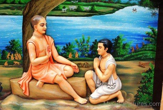 Devotee Greets Chaitanya Mahaprabhu-fd716