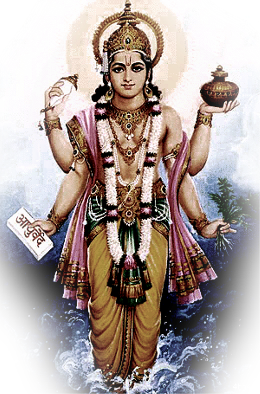Image result for dhanvantari images hd
