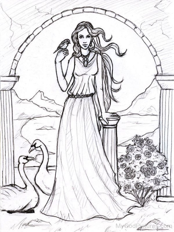 Image result for aphrodite drawing