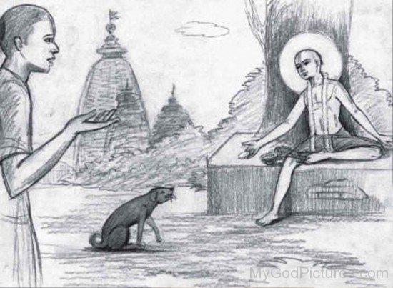 Drawing Of Chaitanya Mahaprabhu-fd717