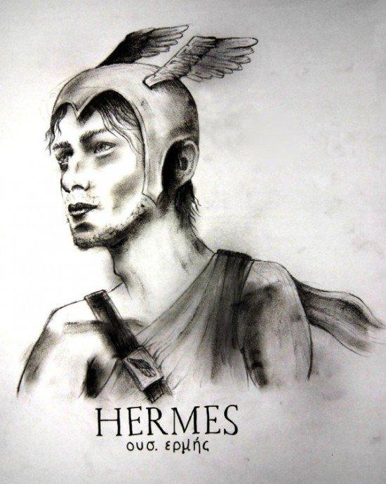 Drawing Of Hermes-yb603