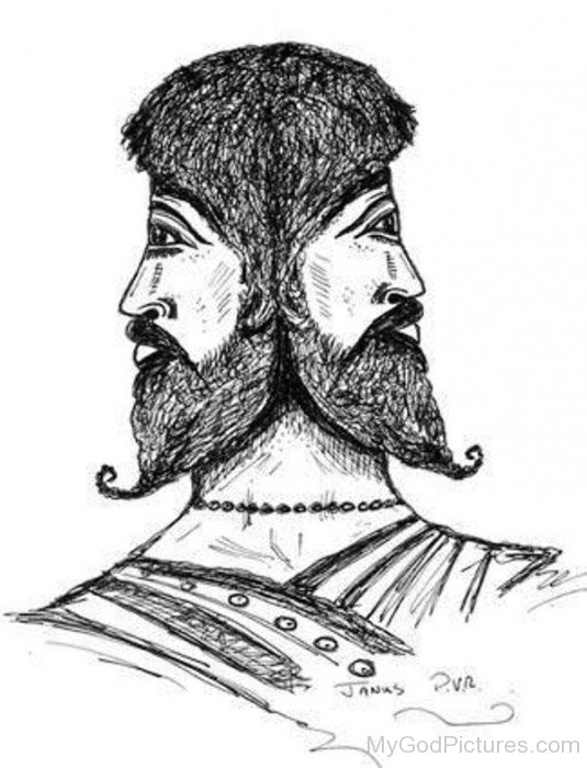 Drawing Of Janus