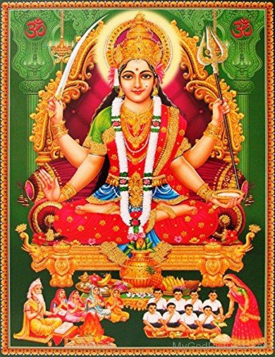 Frame Image Of Goddess Santoshi-bv901