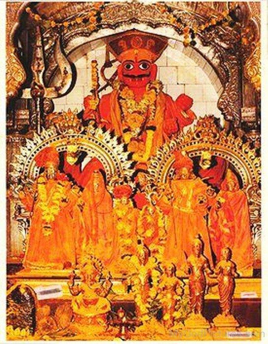 Frame Image Of Khandoba-ab21