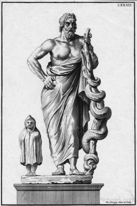 Frame Picture Of Asclepius-tb606