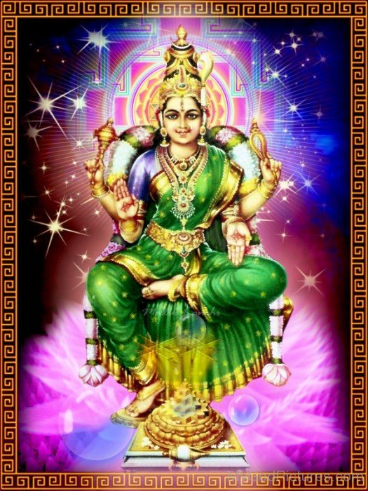 Frame Picture Of Bhuvaneshvari-re805
