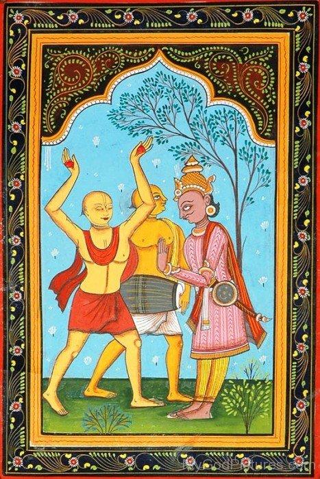 Frame Picture Of Chaitanya Mahaprabhu-fd718