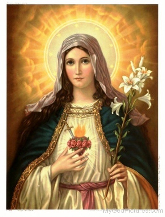 Frame Picture Of Goddess Mary