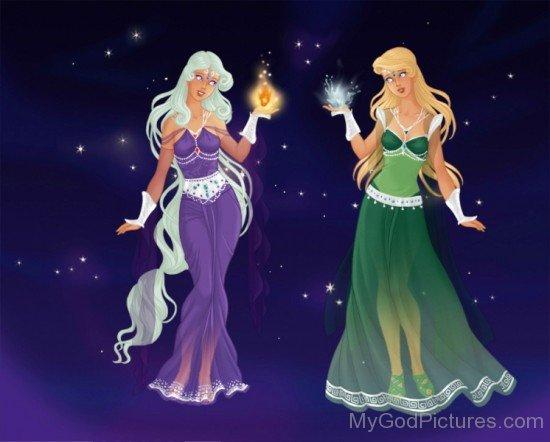 Goddess Asteria And Goddess Leto-rv307
