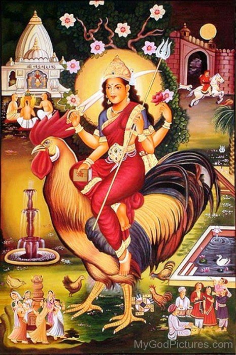 Goddess Bahuchara Picture-xc109