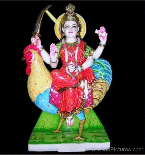 Goddess Bahuchara Statue-xc110