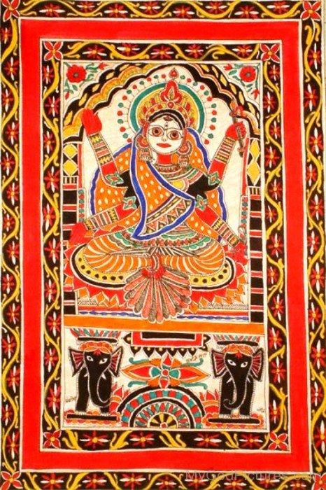Goddess Bhuvaneshvari Portrait-re809