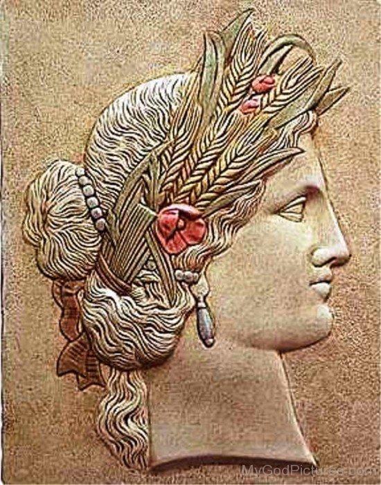 Goddess Ceres Face Image-bm903