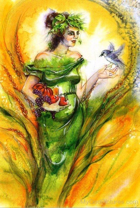 Goddess Demeter Painting-re708