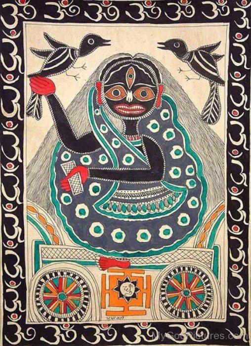 Goddess Dhumavati Portrait-cb710