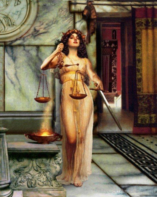 Goddess Justitia Image-hl703