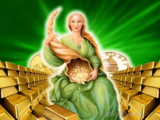 Goddess Of Fortune Abundantia-re307