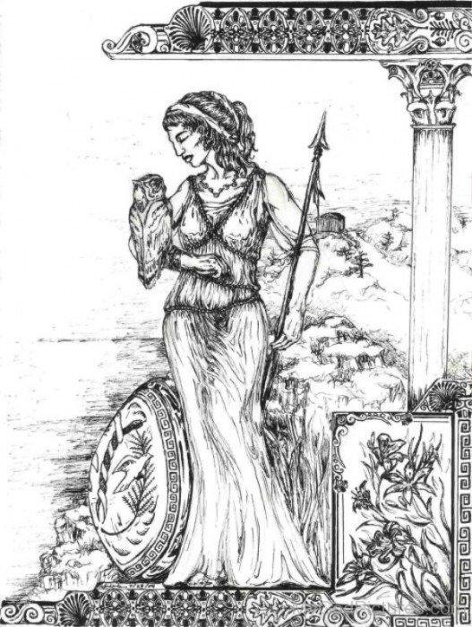 Goddess Of Wisdom Athena-rg514
