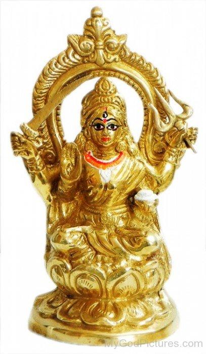 Goddess Santoshi Golden Statue-bv902