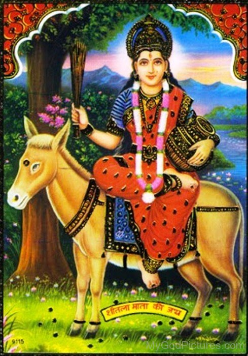 Goddess Shitala Mount On Donkey-rg503