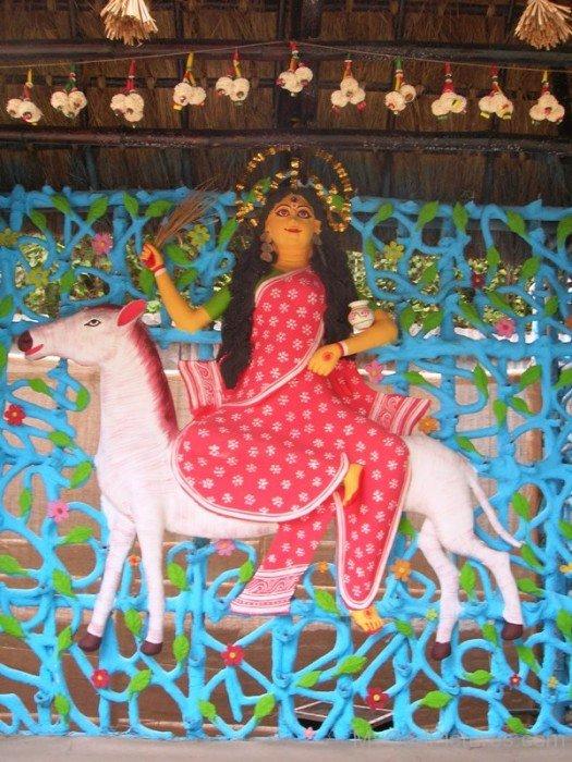 Goddess Shitala Picture-rg505