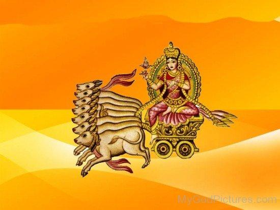 Goddess Ushas On Her Chariot-yb12